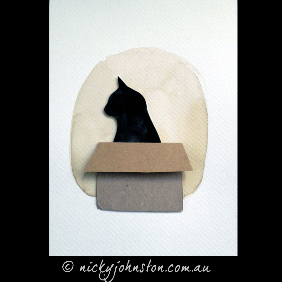 Black-cat-in-box-illustration-original-Nicky-Johnston