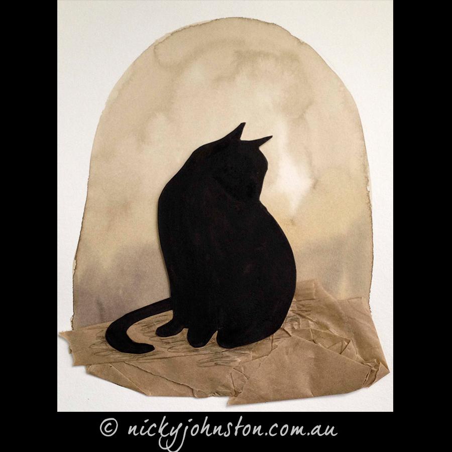Black-Cat-Original-Artwork-Nicky-Johnston
