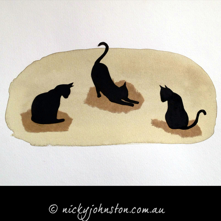 Black-cats-illustration-original-Nicky-Johnston