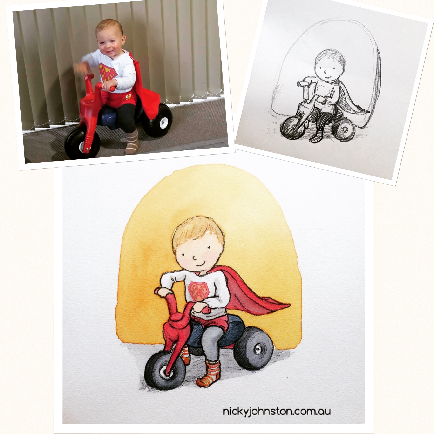 nicky-johnston-illustration-52 week-challenge-childhood-custom-portrait