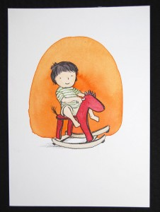 nicky-johnston-illustration-52 week-challenge-childhood-original-artwork-play-horse