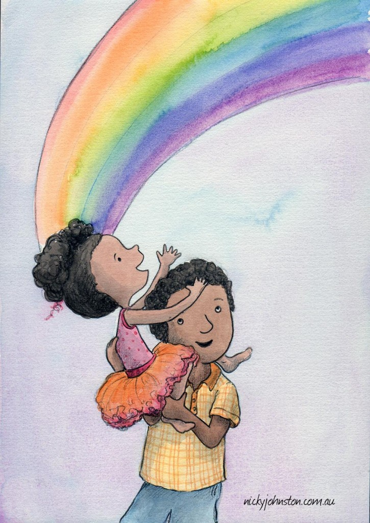 y-johnston-illustration-challenge-watercolour-rainbow